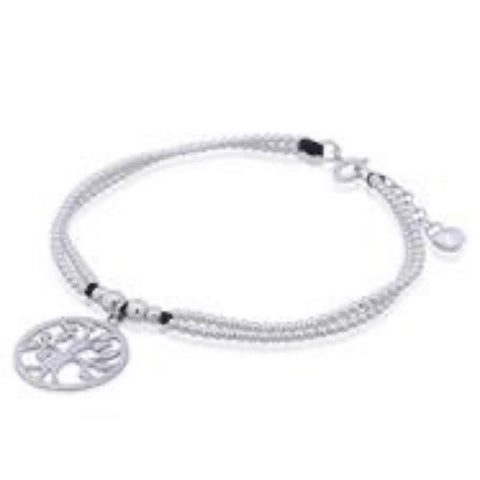 Silver Secrets Sterling Silver Tree of Life Charm Bracelet
