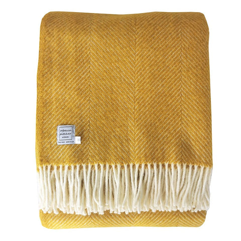 Rebecca Pitcher Large Yellow Wool Throw