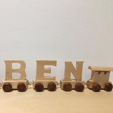 Wooden Toy Chest Wooden Train Letters