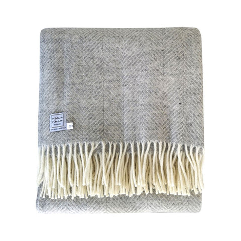 Rebecca Pitcher Silver Grey Wool Throw
