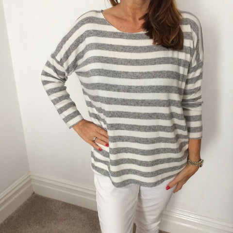 Eden Boutique Soft Knit Striped Jumper