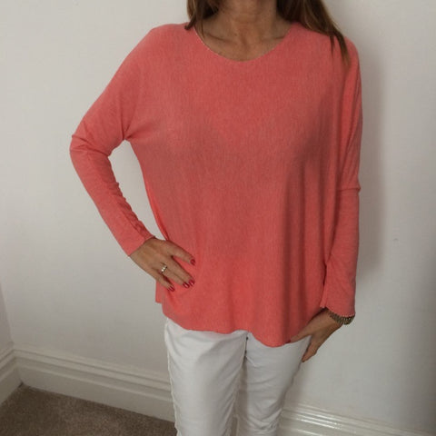 Eden Boutique Soft Knit Coral Jumper
