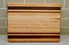 Load image into Gallery viewer, Hardwood edge grain cutting board