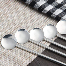 Charger l'image dans la galerie, Stainless Steel Straw Spoons 12 Pack