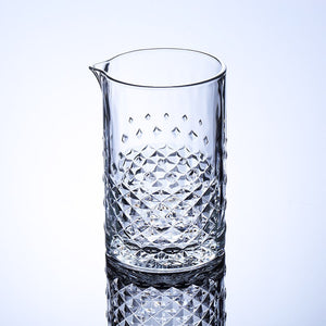 Studded Glass Mixing Glass