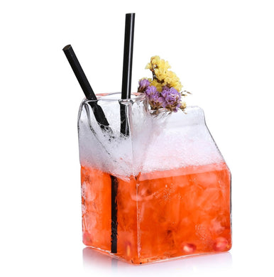 Milk Carton Cocktail Glass - 4 Pack