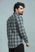 Grey Wooven Checkered Shirt