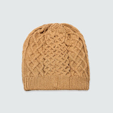 Brown Cable Net Beanie