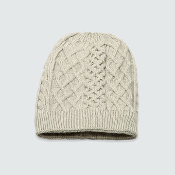 Grey Cable Net Beanie