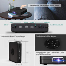"Load image into Gallery viewer, OTHA K1 Projector High Bright 350-ANSI Portable Android Smart Video Projector, Support 1080P 300"" MAX WiFi BT 4.2 HDMI iOS Android Mirroring, with Keypad & Remote Electric Focus Large Speakers"