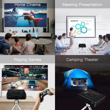"Load image into Gallery viewer, OTHA D13 200 ANSI Lumens Portable Projector, Mini LED WiFi Smart Projector, Outdoor Movie Projector, 300"" Bright & Clear Image, Stereo Speaker, Support Smartphone, Tablet, Laptop, PC, 2 Hours Working"