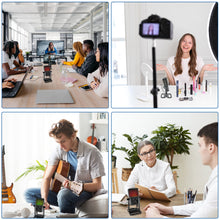 Load image into Gallery viewer, Webcam with microphone and ring light, 2K USB camera for PC/MAC/laptop/desktop, streaming web camera with fixed focus, automatic light correction for video chat and recording, conference, games