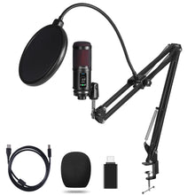 Load image into Gallery viewer, OTHA USB Microphone PC Laptop Microphone 192KHZ/24Bit, Professional Condenser Microphone Kit with Noise Reduction, Adjustable Scissor Arm Stand, Shock Mount for Podcast, YouTube, Gaming Streaming