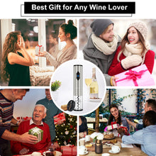 Load image into Gallery viewer, OTHA Electric Wine Openers Set-Battery Powered Automatic Corkscrew Wine Bottle opener 4in1 with Foil Cutter,Bottle Pourer&Wine Aerator,Vacuum Pump Sealer with Date Marker.Stainless Steel