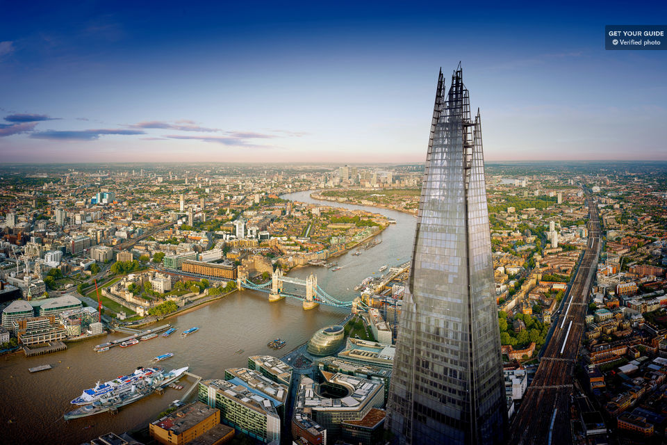 The View from the Shard: ingresso e champagne opzionale
