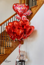 Load image into Gallery viewer, Teddy Bouquet - Dozen Balloons