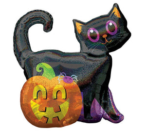 "28"" Black Cat Pumpkin"