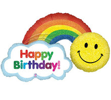 Load image into Gallery viewer, Rainbow & Sunshine Birthday Party Post