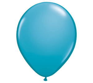 "Tropical Teal 11"" round balloon for delivery."