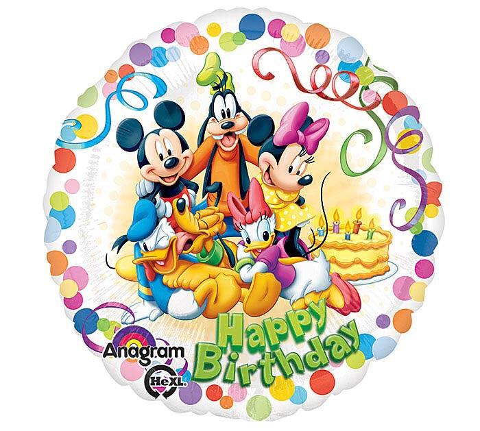 "17"" Mickey Mouse and Friends Happy Birthday"