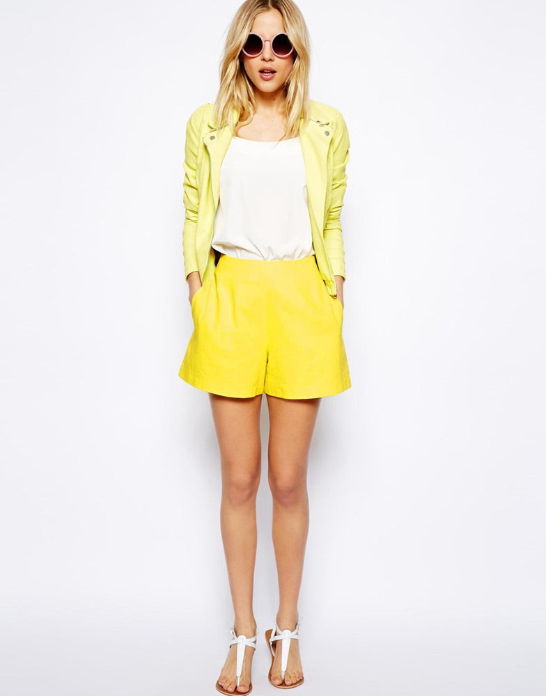 ASOS High Waist Linen Shorts