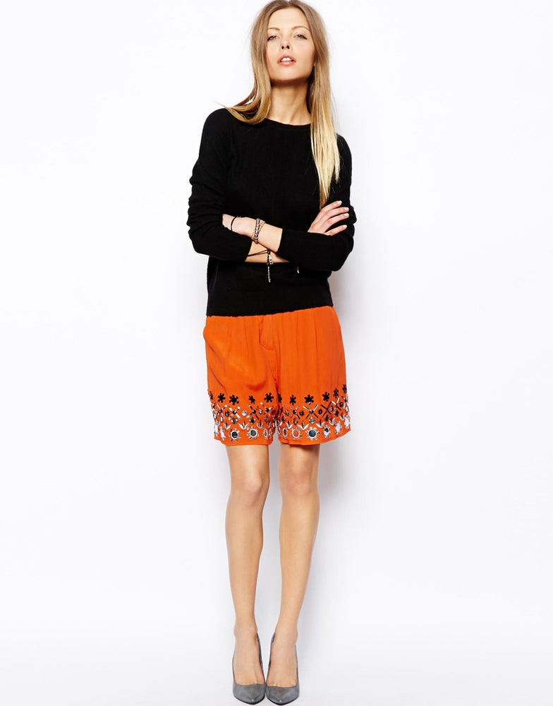 ASOS Shorts With Embellished Hem