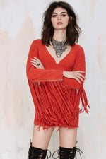 Joplin Fringe Suede Dress