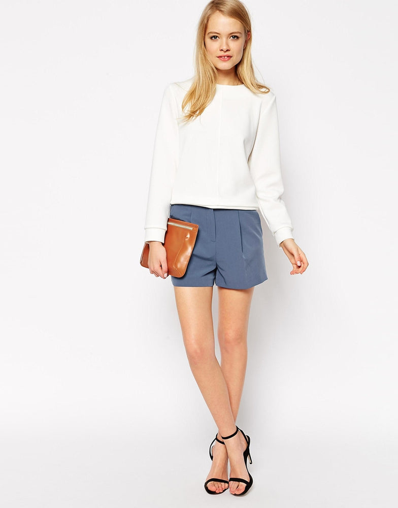 Short With High Waist Detail
