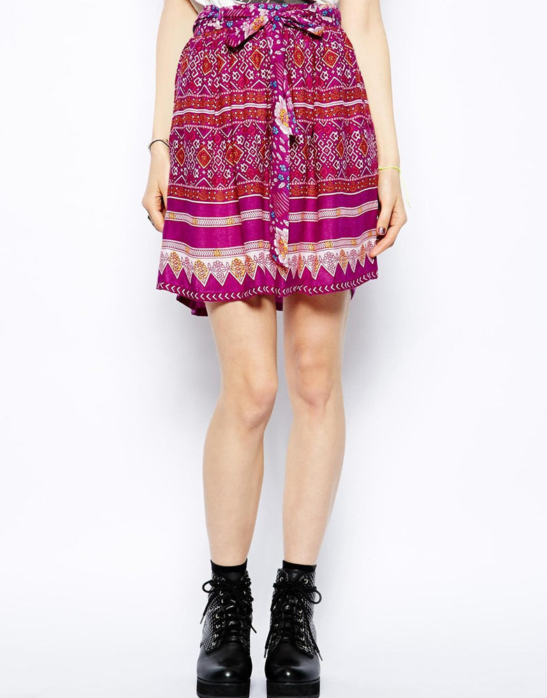 Load image into Gallery viewer, Minkpink Bohemian Rhapsody Waisted Skirt