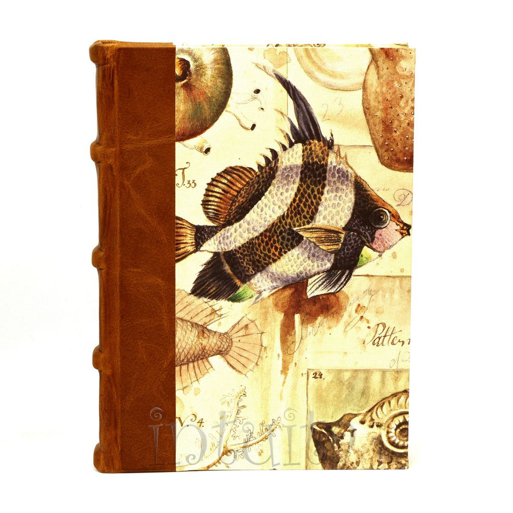 journal with fish watercolor print cover Christmas gift