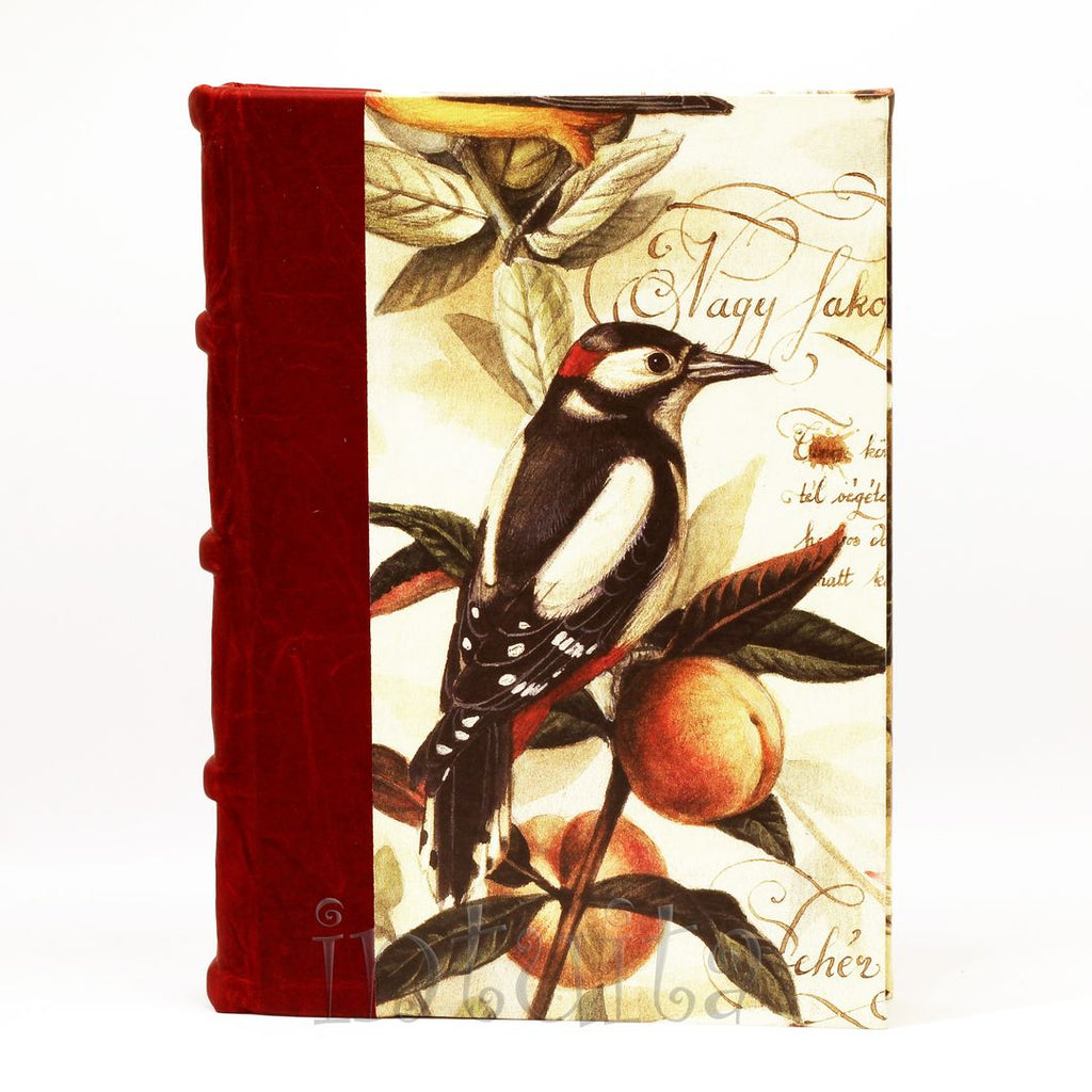 journal with bird watercolor print cover Christmas gift