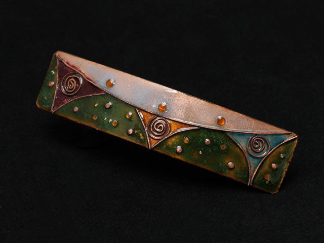 enamel on copper hairgrip