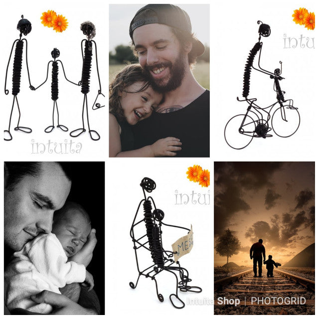 Wire figurines For Dad Series