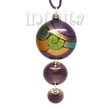 3 Dot Design Colorful Enamel Pendant