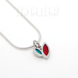 High Fashion Style Colorful Leaf Design Sterling Silver Necklace