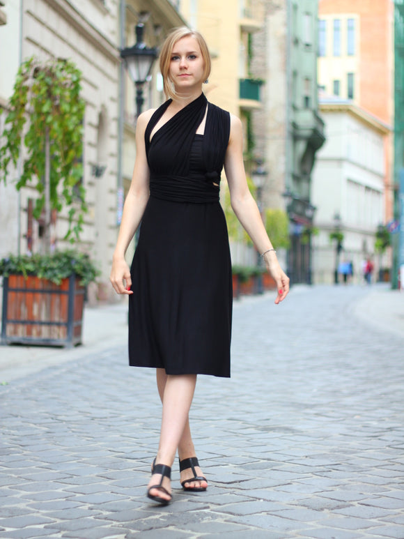 Black Infinity Creative Coctail Dress