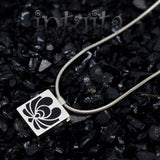 High Fashion Style Matyo Design Black Plexiglas and Sterling Silver Necklace