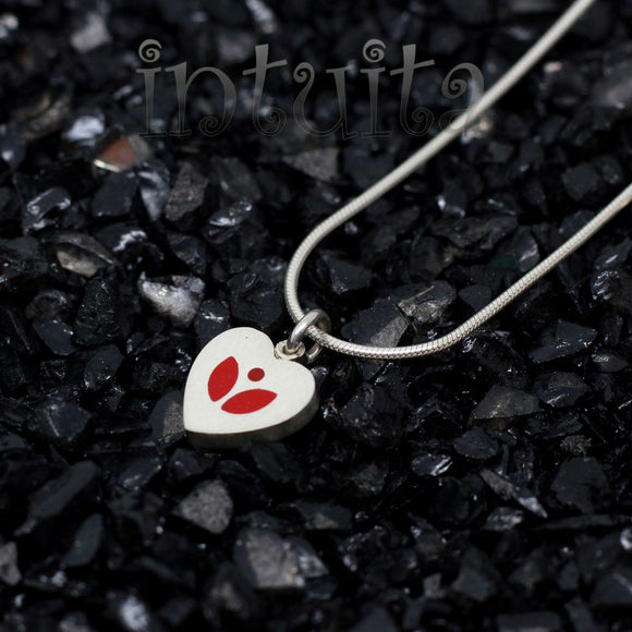 High Fashion Minimalist Style Small Heart Shape Sterling Silver Necklace