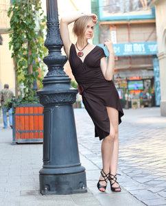 Chocolate Brown Infinity Creative Coctail Dress