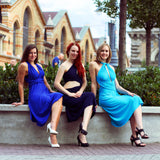 Royal Blue Infinity Creative Coctail Dress