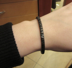 Brown Color Band Leather Bracelet With a Hook Clasp For Men
