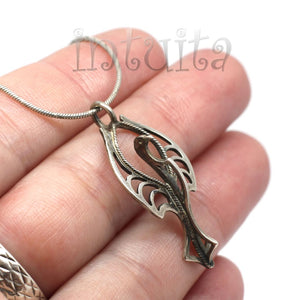 Long Oval Shape Fiery Red Enamel Earrings