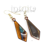 Kite Shape Colorful Enamel Dangle Earrings
