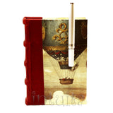 Brown And Orange Zip Bag
