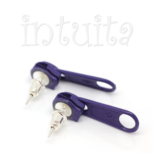 Teal Enamel On Copper Dangles