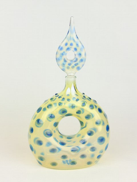 Handblown Glass Color Shifting Perfume Bottle With A Hole Inside