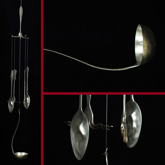 Recycled Windchimes Made Of Spoon, Fork And Ladle
