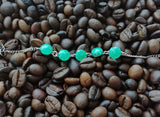 Dainty Turquoise Color Glow-in-the-dark Dot Painted Bracelet