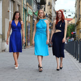 Dark Blue Infintiy Creative Coctail Dress