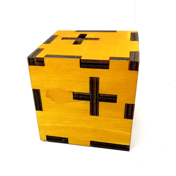12 Pieces Cube Wooden Logic Game